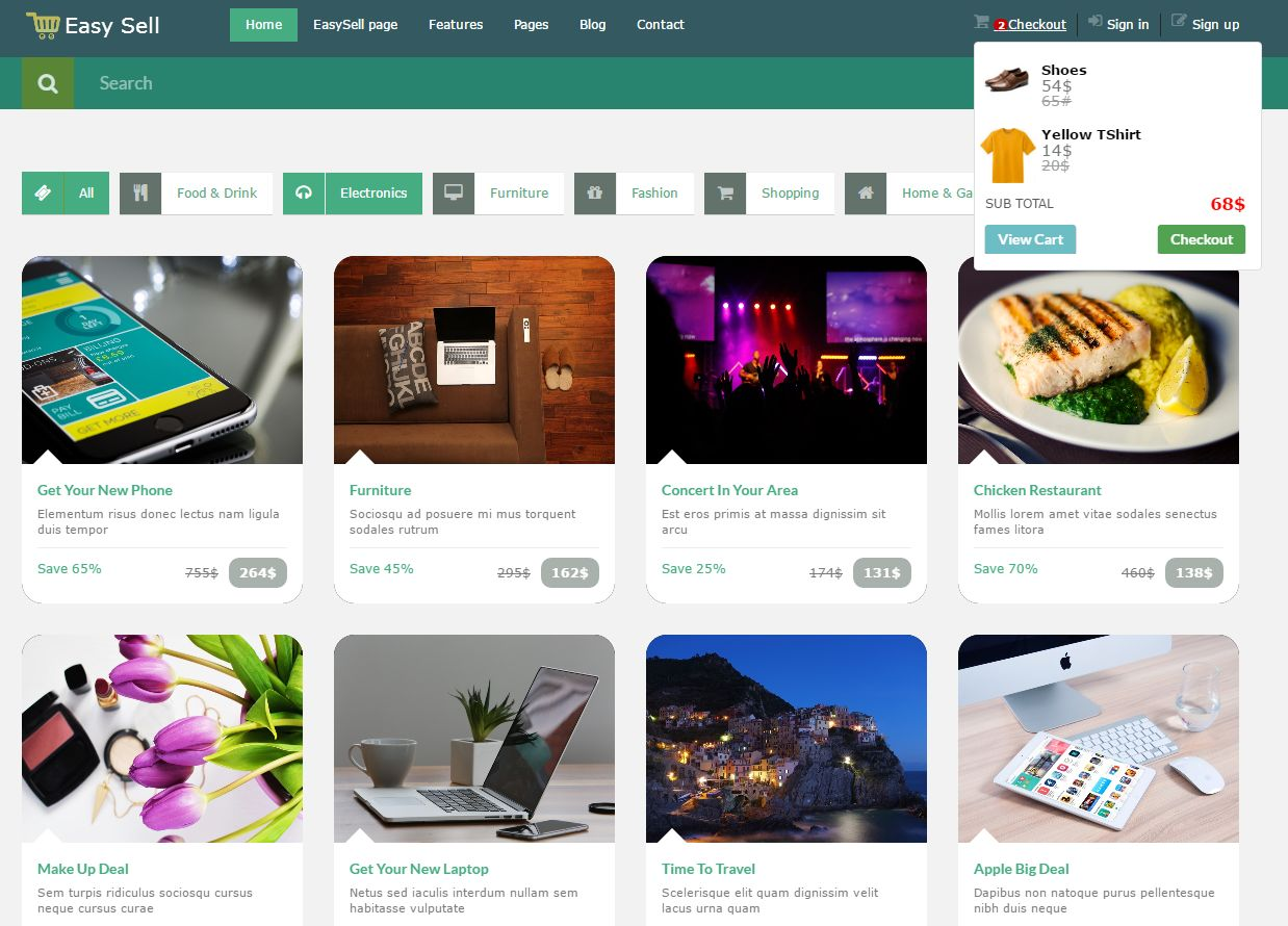Easy Sell Shop - eCommerce HTML Template Screenshot 3