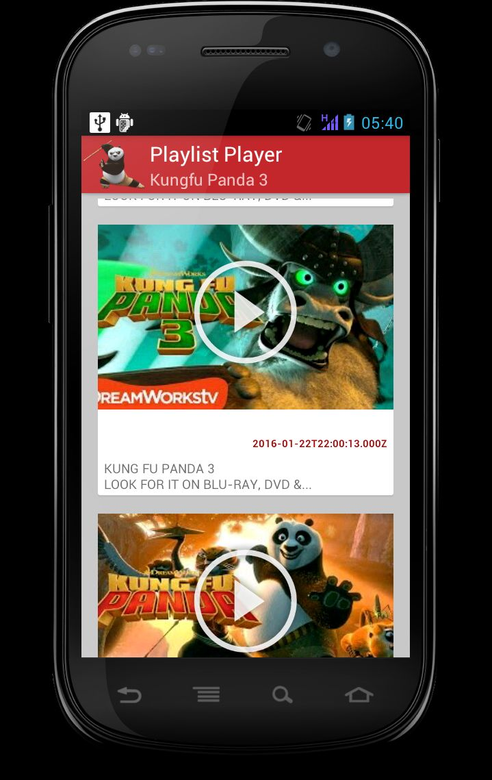 Youtube Playlist Player - Android App Template Screenshot 1