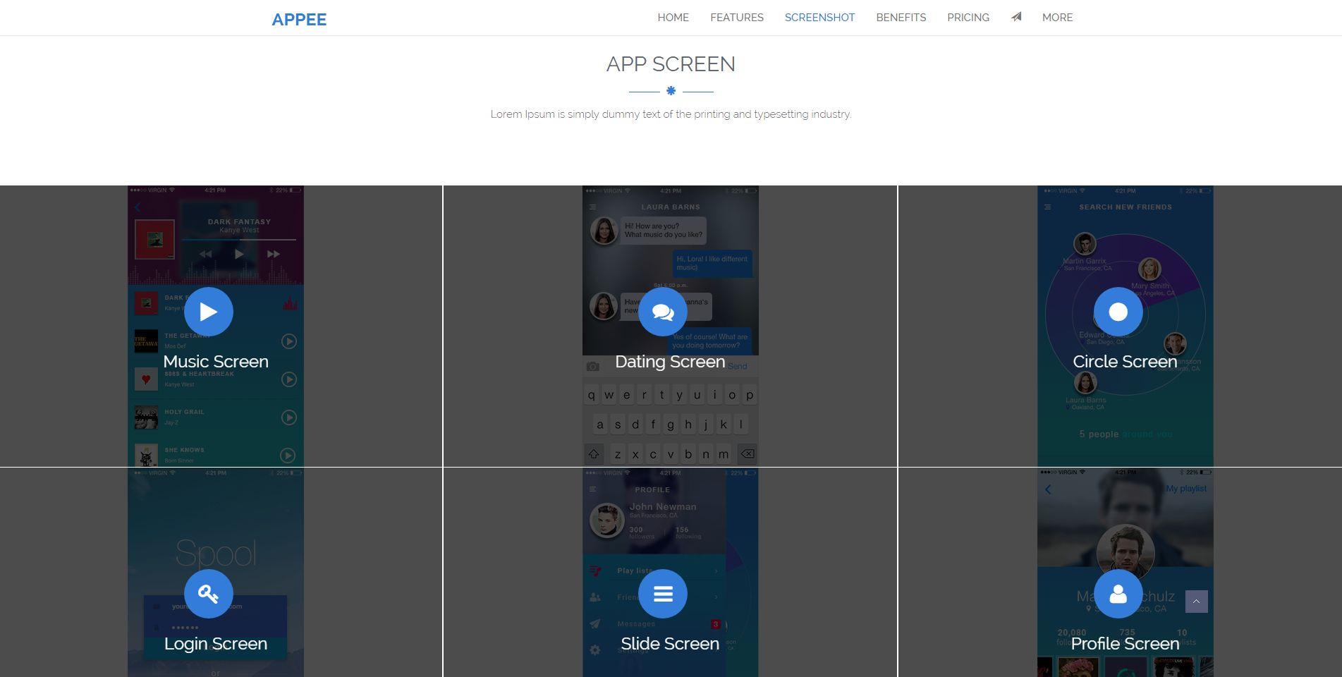 Appee - Bootstrap App Landing Page HTML Template - HTML Technology ...
