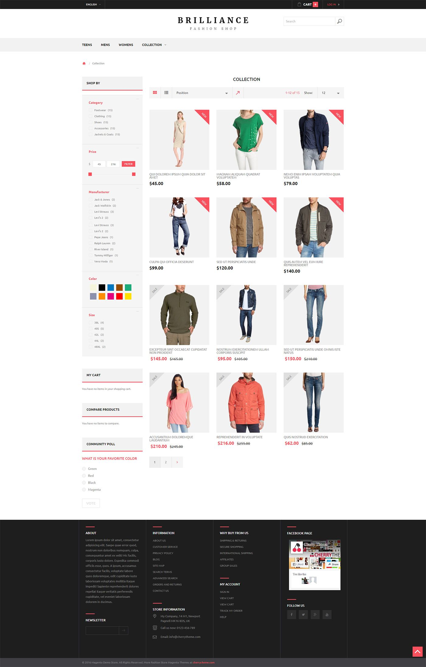 Brilliance Fashion Shop  Responsive Magento Theme Screenshot 1