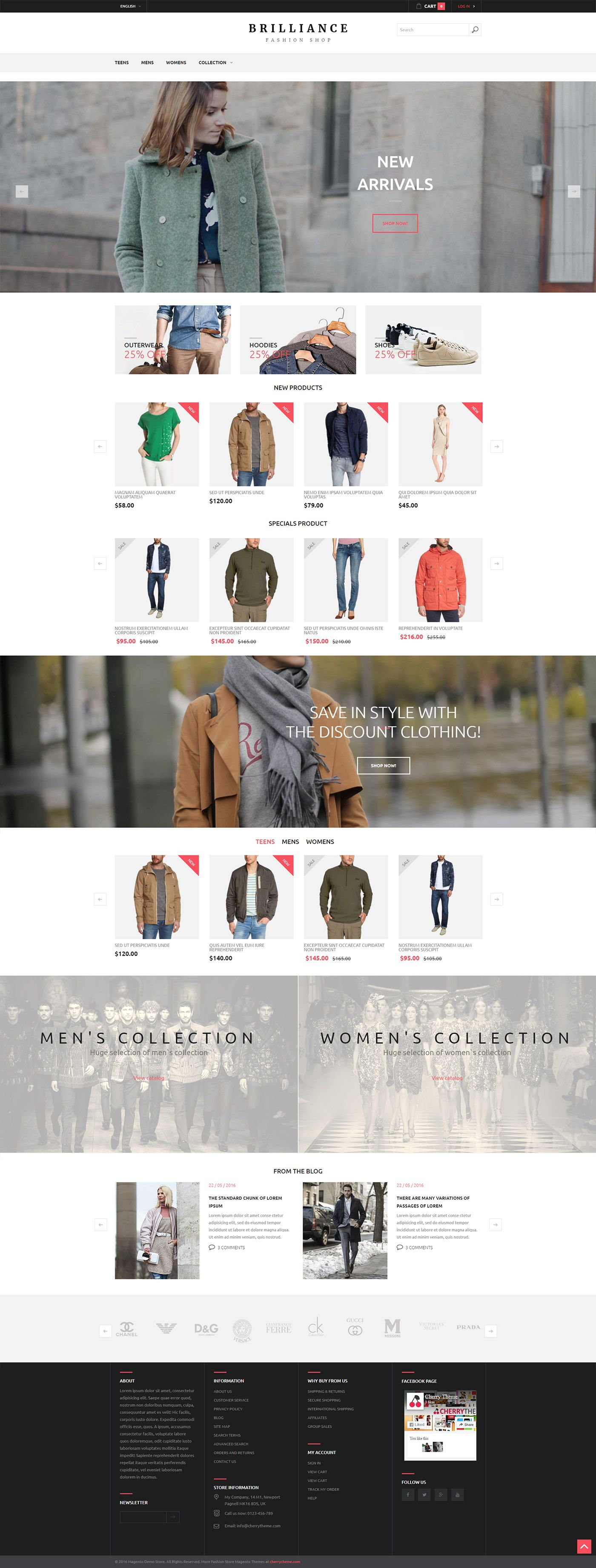 Brilliance Fashion Shop  Responsive Magento Theme Screenshot 2