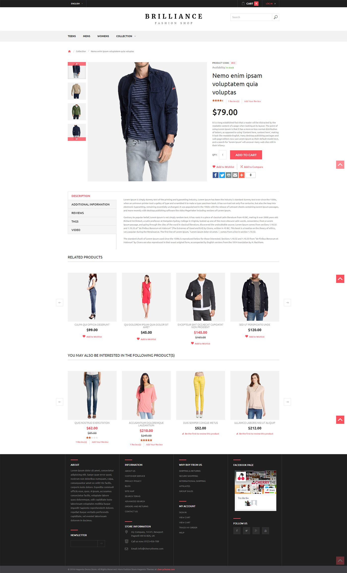 Brilliance Fashion Shop  Responsive Magento Theme Screenshot 3