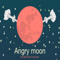 Angry Moon - To do list App Template