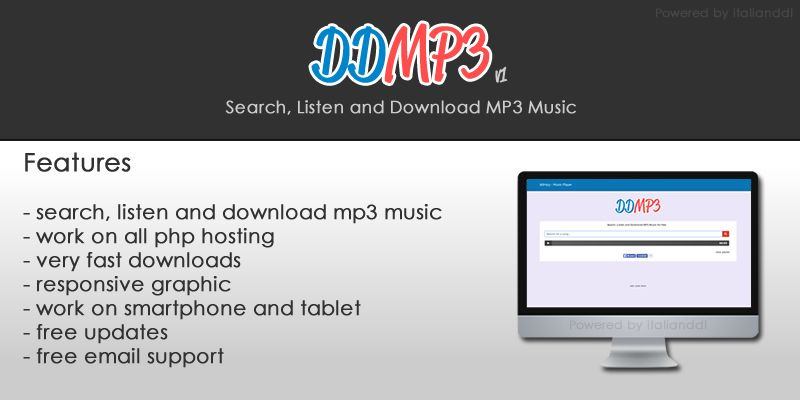 DDMP3 YouTube MP3 MP4 Download PHP Script | Codester