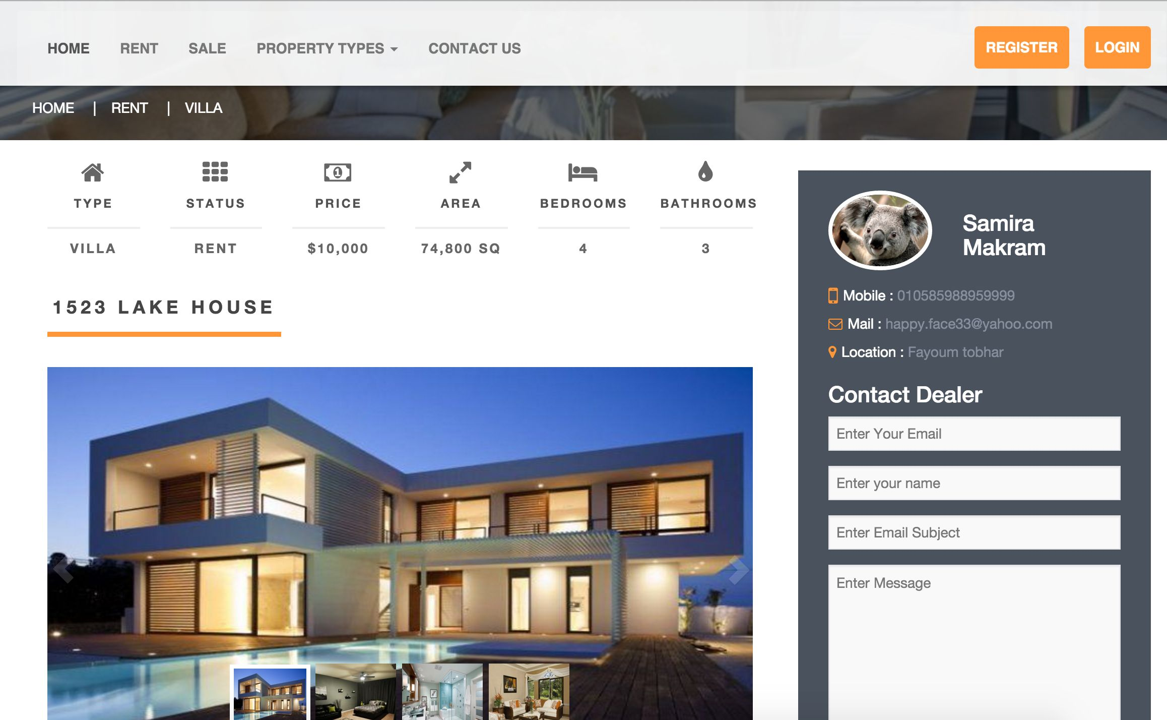 MC Real Estate Pro - PHP Script Screenshot 3