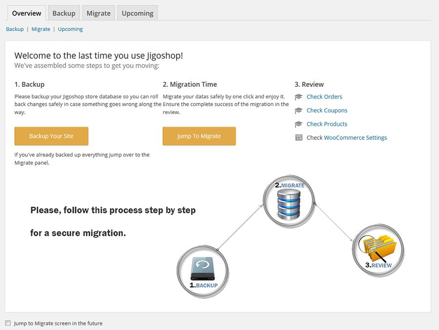 Jigoshop To Woocommerce Migrator Screenshot 1