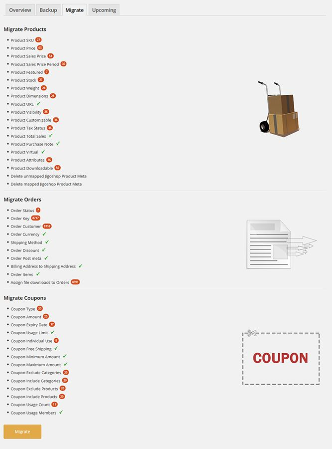 Jigoshop To Woocommerce Migrator Screenshot 3