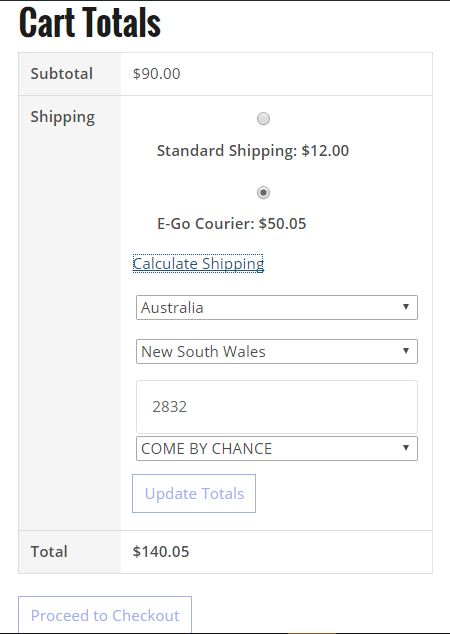E-Go Courier WooCommerce Plugin Screenshot 1