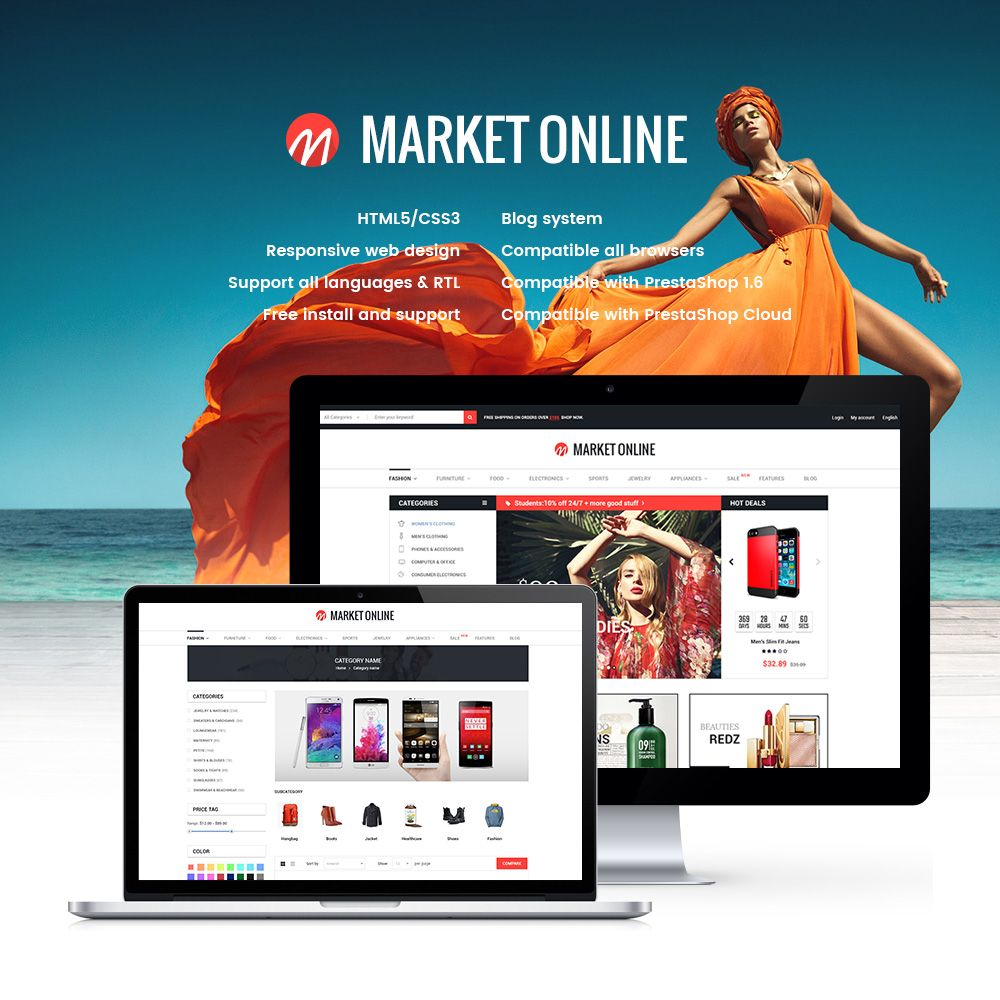MarketOnline - Supermarket Prestashop Theme Screenshot 1