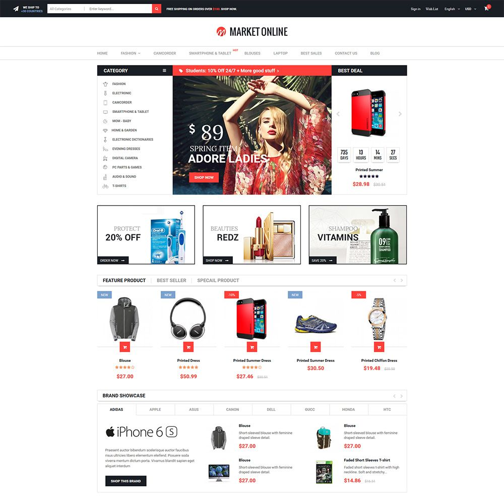 MarketOnline - Supermarket Prestashop Theme Screenshot 2