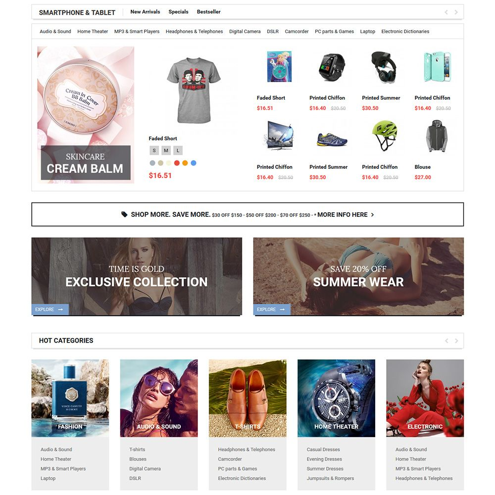 MarketOnline - Supermarket Prestashop Theme Screenshot 3