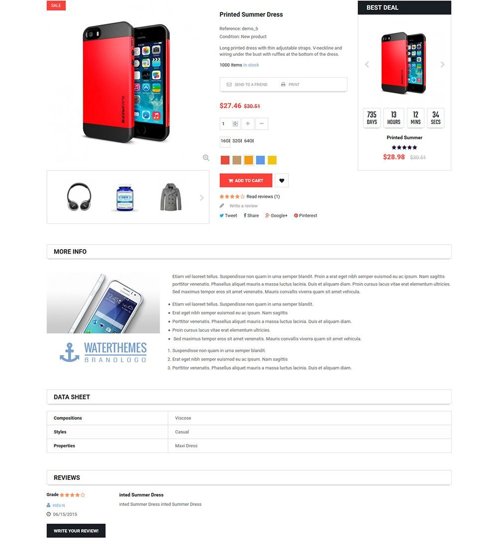 MarketOnline - Supermarket Prestashop Theme Screenshot 5