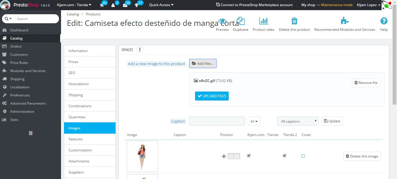 Animated GIF For Product Sheet - PrestaShop Module Screenshot 2