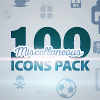 100 Miscellaneous Icons Pack