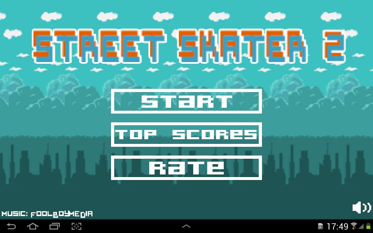 Street Skater 2 - Android Game Source Code Screenshot 2