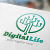 digital-life-logo-template
