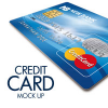 Plastic Credit Card Mockup Template