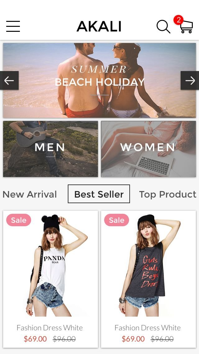 Akali - Ecommerce App Template Screenshot 4