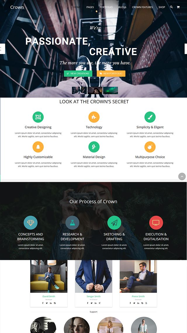 Crown - Multipurpose WordPress Theme Screenshot 1