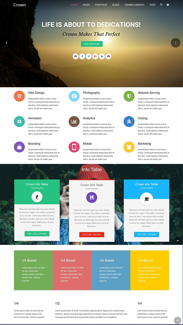 Crown - Multipurpose WordPress Theme Screenshot 3
