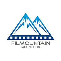 Film Mountain Logo Template