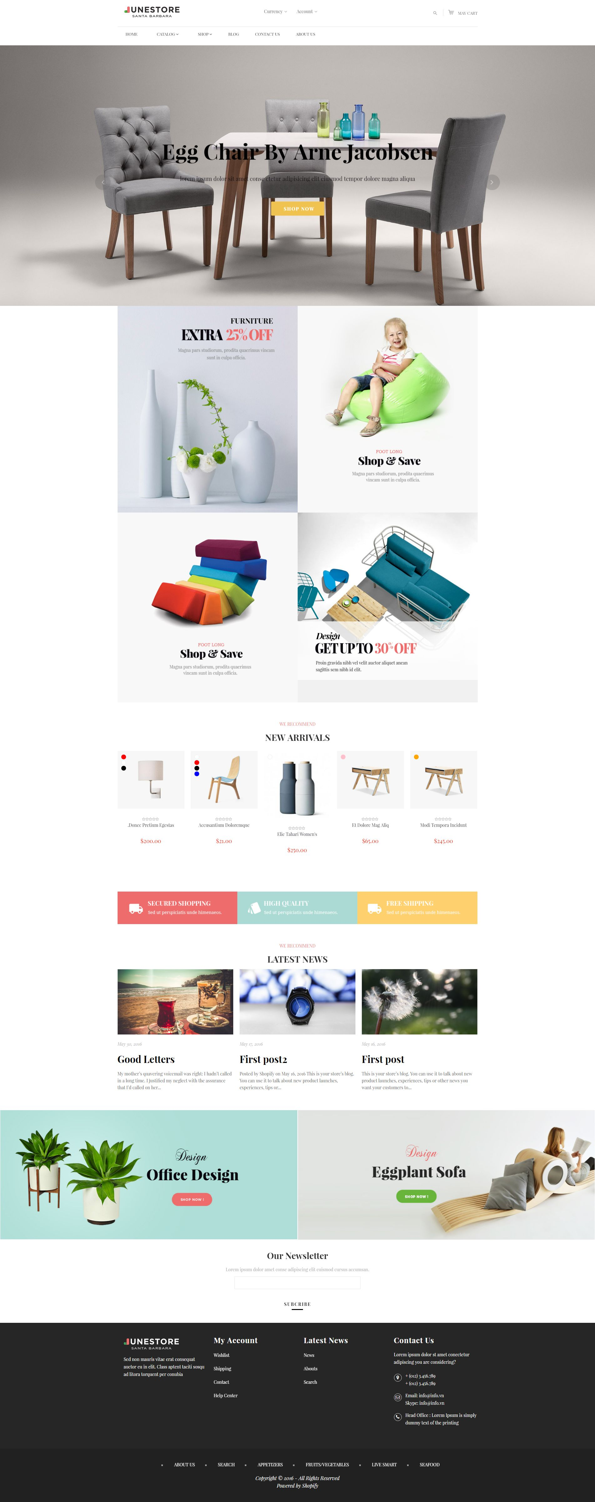 Junestore - Shopify Theme Screenshot 1