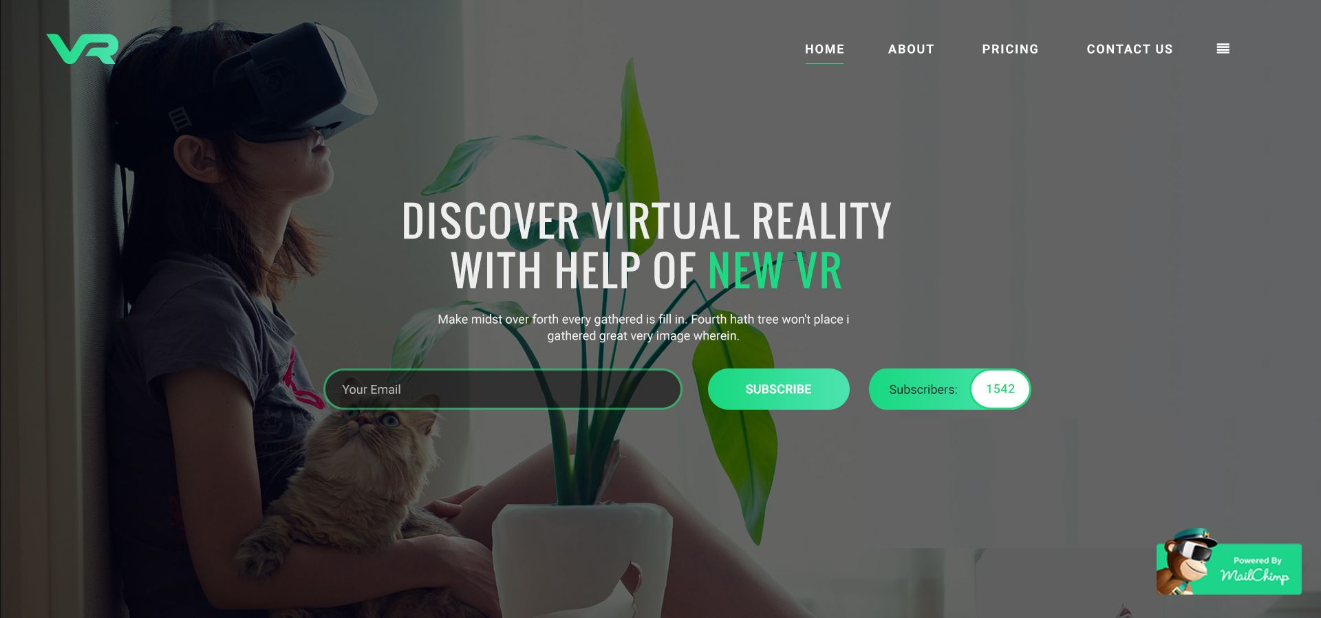 VR Startup - Bootstrap HTML Template - HTML Technology Website ...