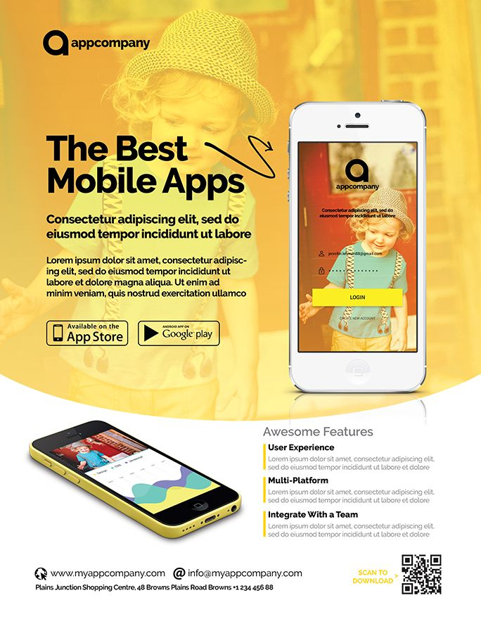 Mobile App Flyer Template Screenshot 1