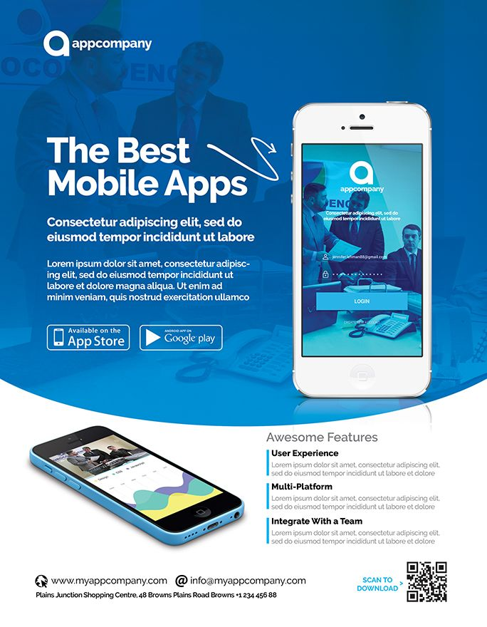 Mobile App Flyer Template Screenshot 2