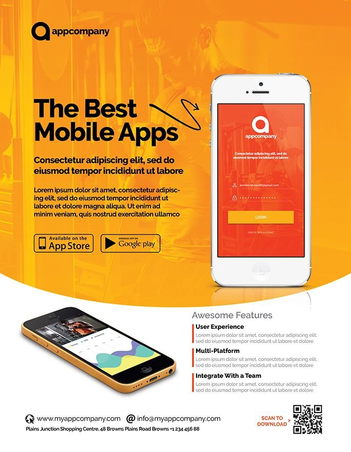 Mobile App Flyer Template Screenshot 3