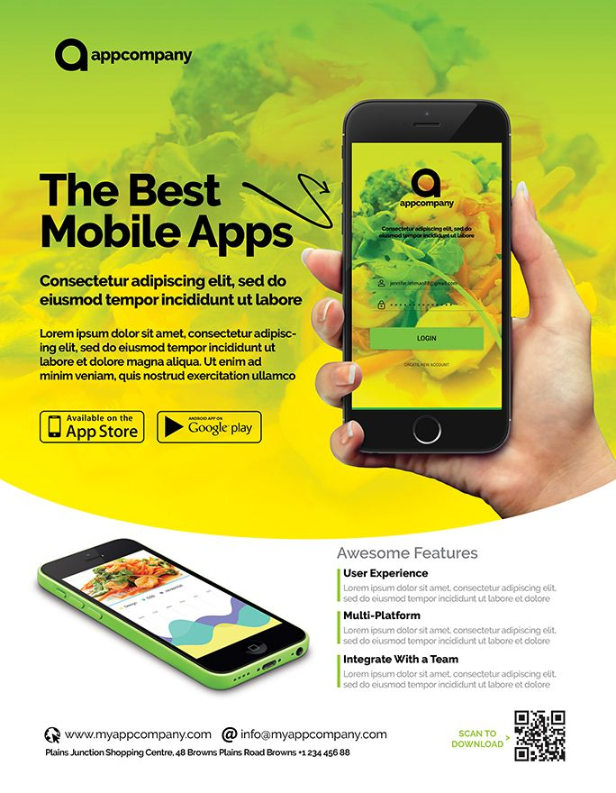 Mobile App Flyer Template Screenshot 4