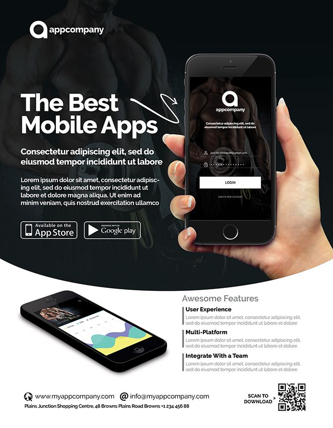 Mobile App Flyer Template Screenshot 5