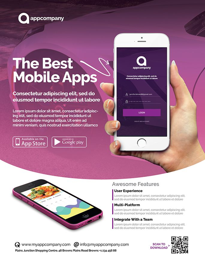 Mobile App Flyer Template Screenshot 6