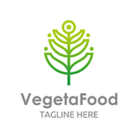 Vegetarian Food - Logo Template