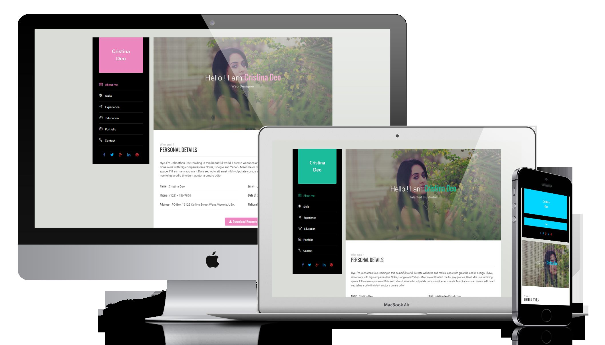 Swiftly - Resume Wordpress Theme Screenshot 1
