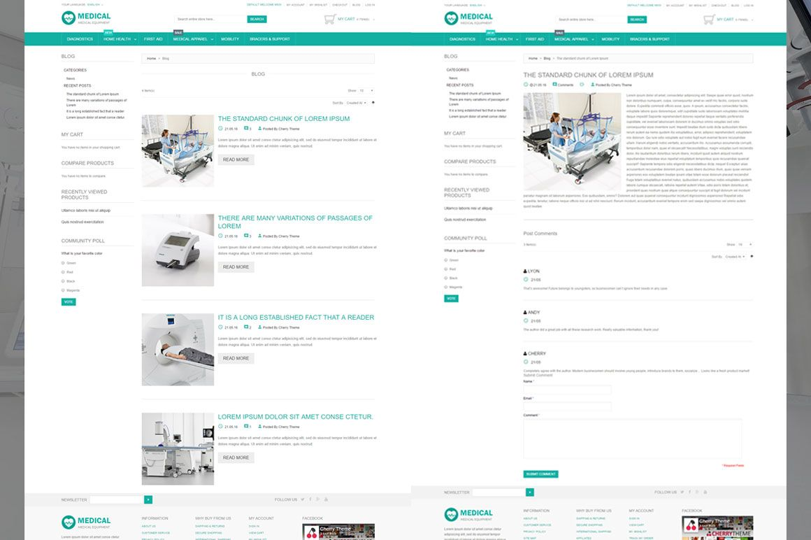 Medical Equipment Magento Theme Screenshot 1