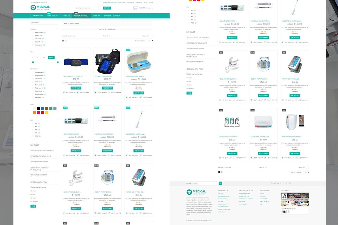 Medical Equipment Magento Theme Screenshot 2