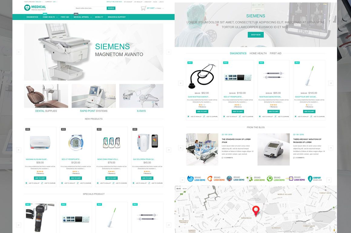 Medical Equipment Magento Theme Screenshot 3