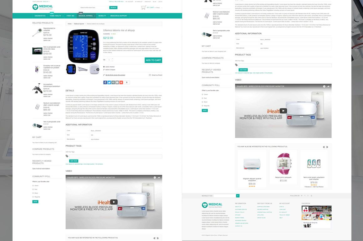 Medical Equipment Magento Theme Screenshot 4