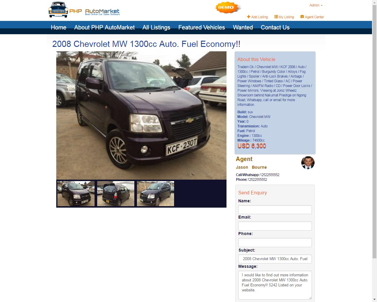 PHP AutoMarket - Car Marketplace PHP Script Screenshot 3