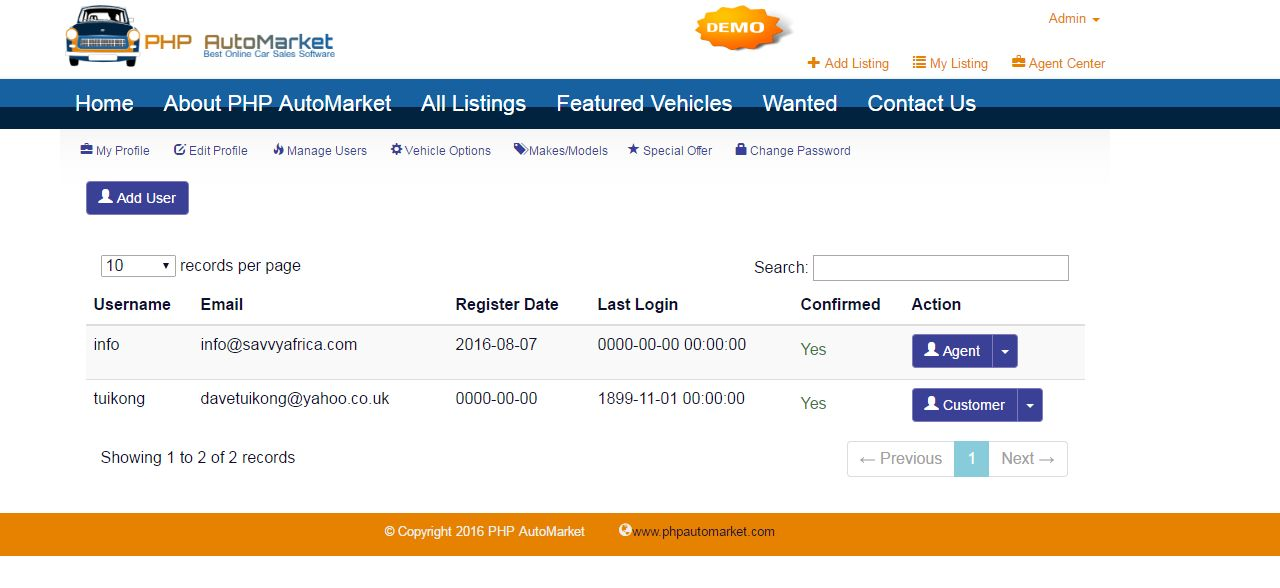 PHP AutoMarket - Car Marketplace PHP Script Screenshot 5