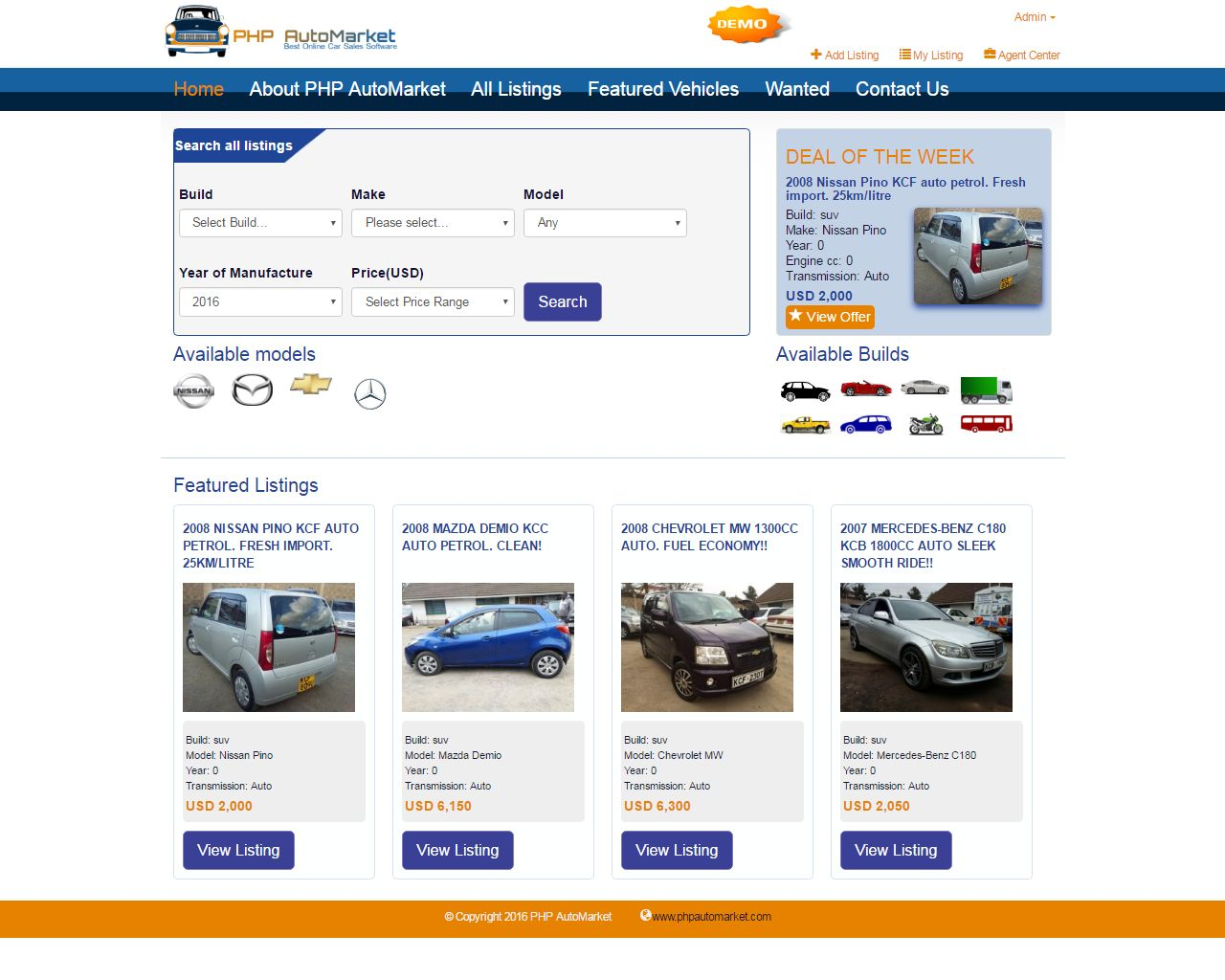 PHP AutoMarket - Car Marketplace PHP Script Screenshot 6