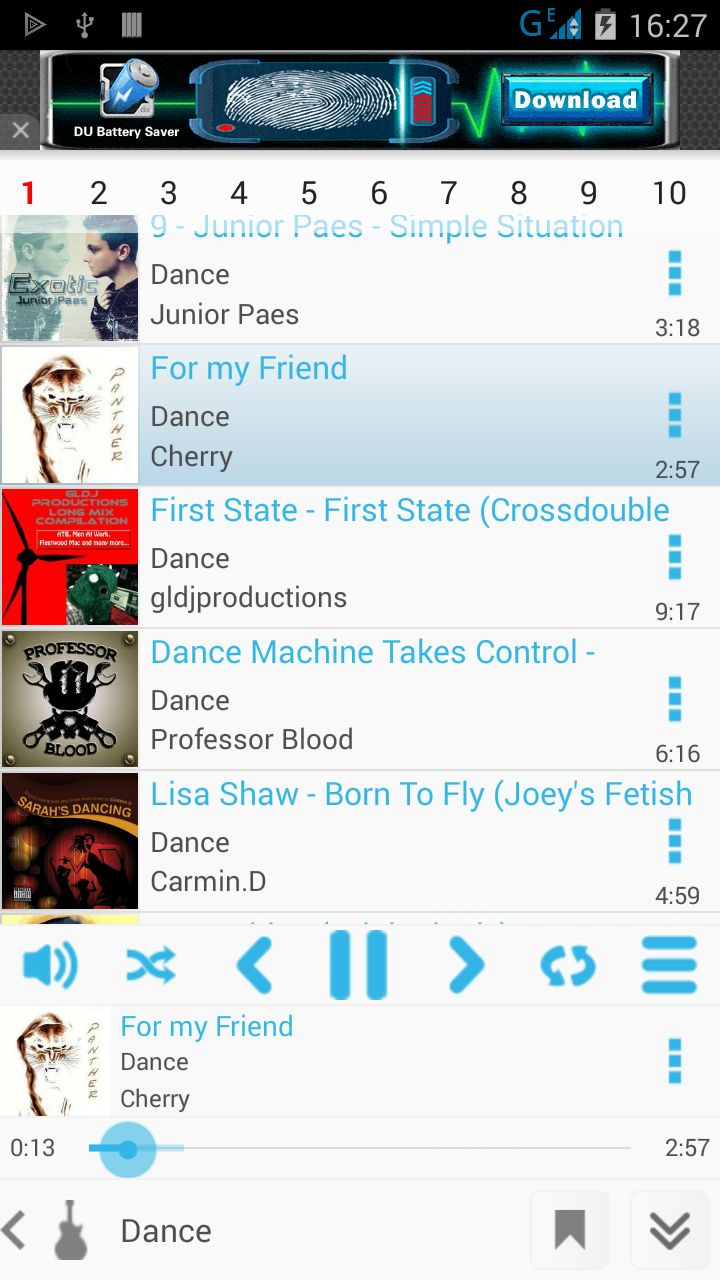 Tri Music Player - Android App Source Code Screenshot 3