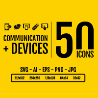 Comunication And Devices - Icon Pack