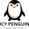 icy-penguin-logo-template