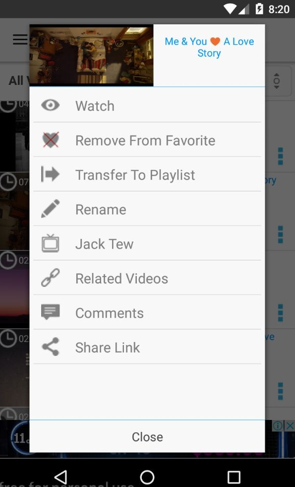 Vimeo Video Player - Android Source Code Screenshot 2
