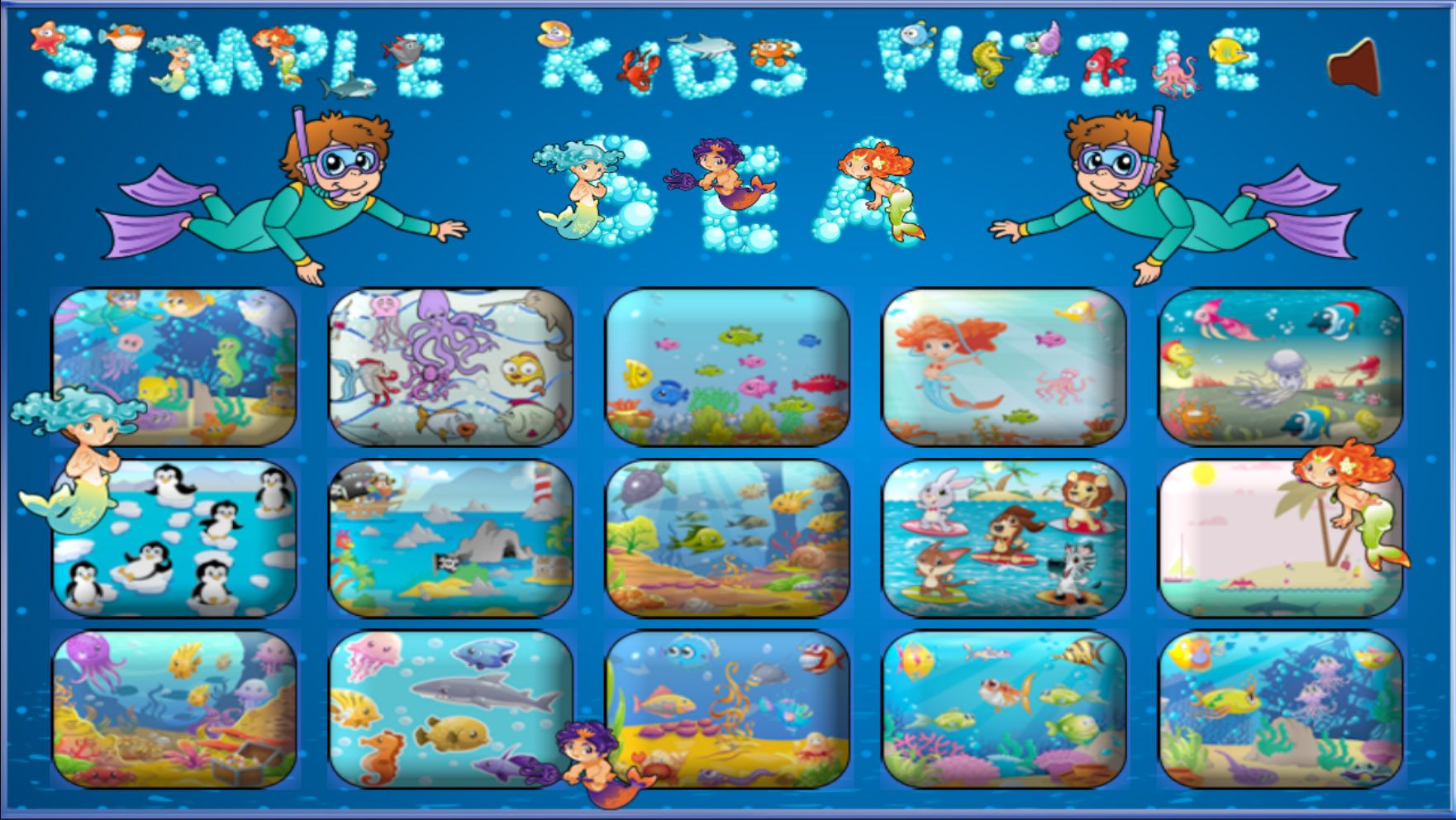 Simple Kids Puzzle Sea - Unity Source Code Screenshot 1
