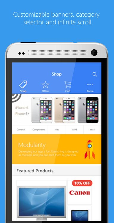 Ionic opencart mobile app template ionic full app templates ionic opencart mobile app template screenshot 1 pronofoot35fo Images