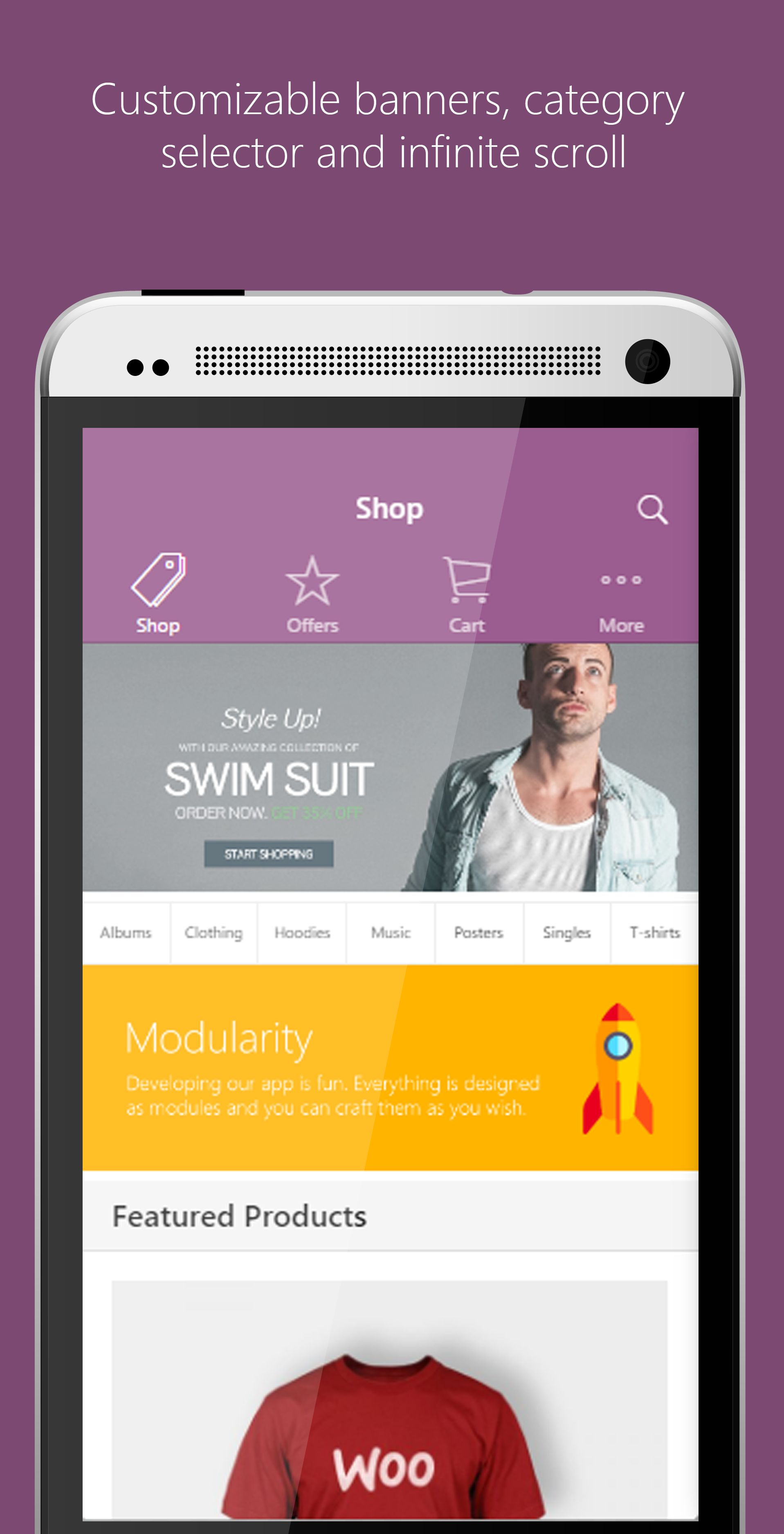 Ionic WooCommerce Mobile App Template Screenshot 1