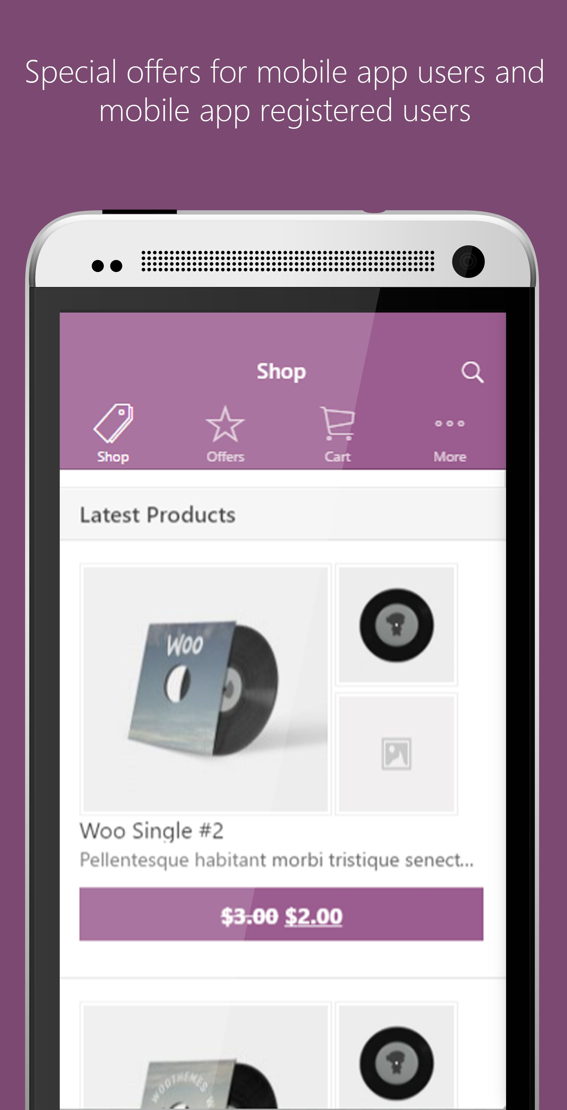 Ionic WooCommerce Mobile App Template Screenshot 2